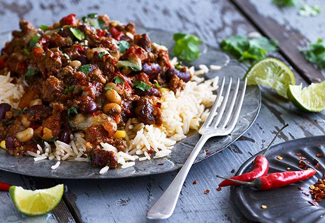CHILLI CON CARNE & MEXICAN RICE