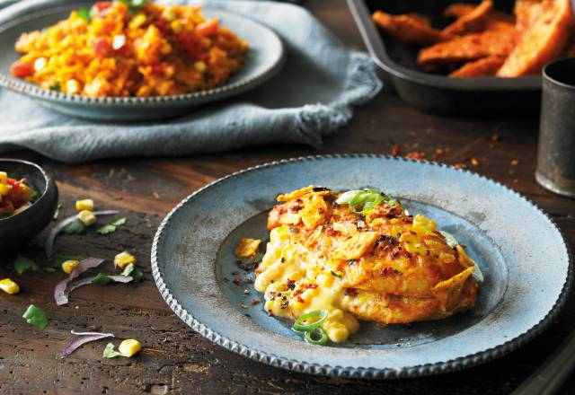 Cajun Chicken filled with Creamy Corn