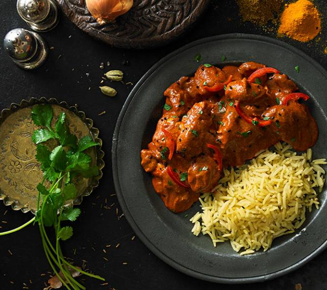 CHICKEN TIKKA MASALA & PILAU RICE (FOR ONE)